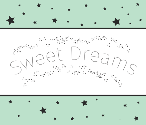Sweet Dreams Baby Blanket Mint - mint baby blanket - stars fabric by modfox on Spoonflower - custom fabric