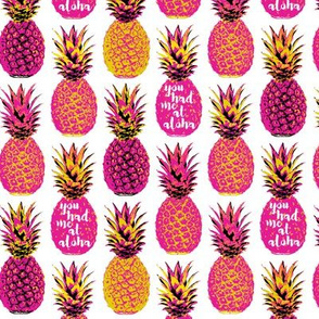 Pink Pineapple - White Wording