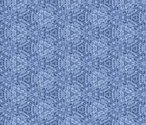 Geometric Denim Blue Abstract fabric by mariafaithgarcia on Spoonflower - custom fabric