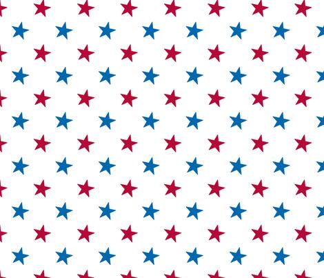 Americana Small Stars - White fabric by mariafaithgarcia on Spoonflower - custom fabric