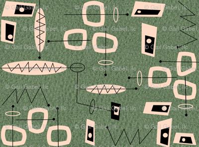 Atomic  Mid-Century Modern Abstract