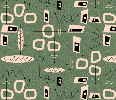 Atomic  Mid-Century Modern Abstract fabric by hot4tees_bg@yahoo_com on Spoonflower - custom fabric