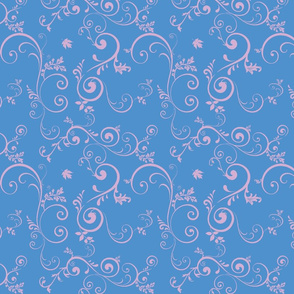 Vine - Blue & Mauve