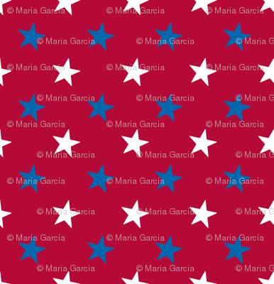 Americana Small Stars - Red