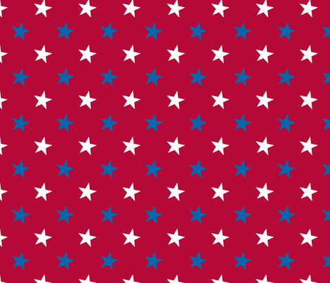 Americana Small Stars - Red fabric by mariafaithgarcia on Spoonflower - custom fabric
