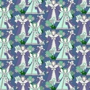 Fairies and Hydrangea Flowers Fabric #4