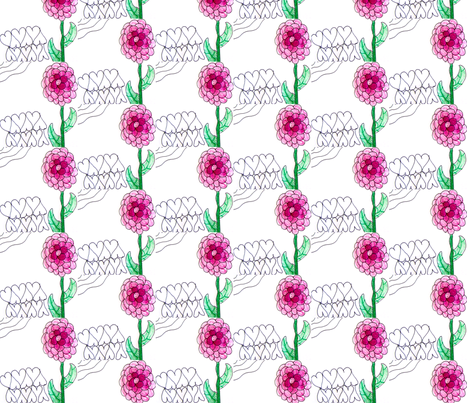 Emma's flower stripe fabric by unclemamma on Spoonflower - custom fabric