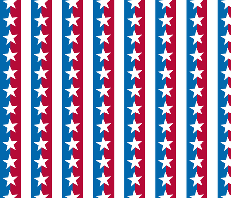 Americana Stars and Stripes 3 fabric by mariafaithgarcia on Spoonflower - custom fabric