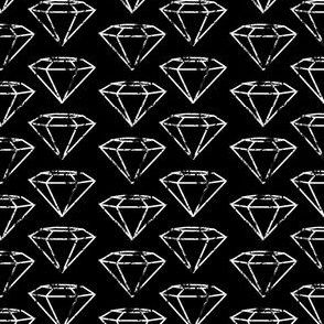 Speckled Diamonds on black