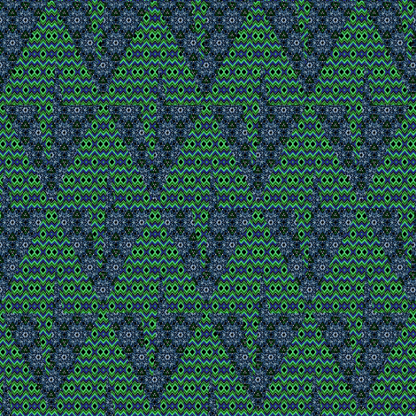 Midnight in the Christmas Tree Diamond Forest fabric by eclectic_house on Spoonflower - custom fabric
