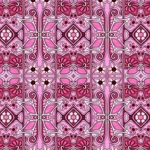 Art Nouveau Pink Four Square Number 4971152