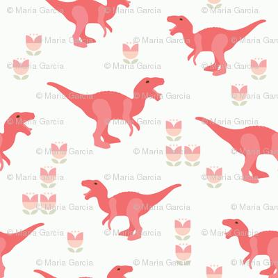 Prehistoric Pink T-Rex Dinosaur