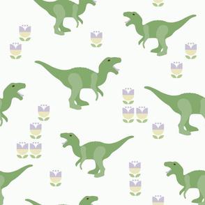Prehistoric Green Dino Raptor