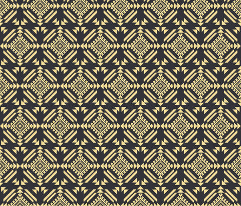 lion_tribal_black_and_gold fabric by holli_zollinger on Spoonflower - custom fabric