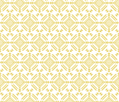 lion_tribal_golden fabric by holli_zollinger on Spoonflower - custom fabric