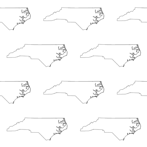 North Carolina Outline fabric by thinlinetextiles on Spoonflower - custom fabric