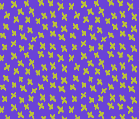 exes purple fabric by bbusbyarts on Spoonflower - custom fabric