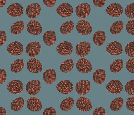 egg dot slate fabric by bbusbyarts on Spoonflower - custom fabric