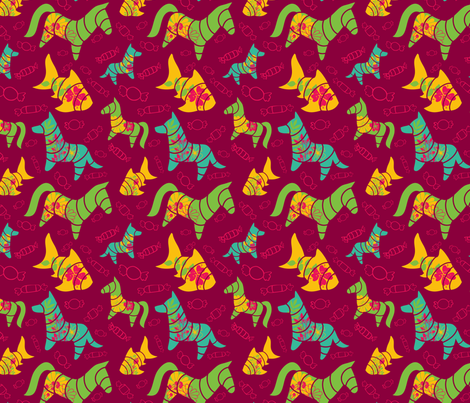 pinata fiesta fabric by tinykiwidesign on Spoonflower - custom fabric