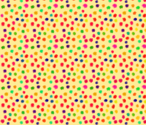puff dots buff fabric by bbusbyarts on Spoonflower - custom fabric