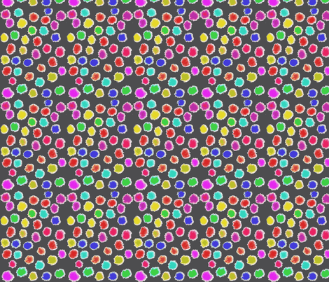 puff dots charcoal fabric by bbusbyarts on Spoonflower - custom fabric