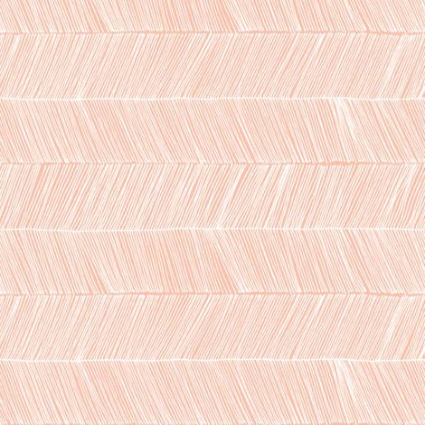 herringbone peach - rotated 90 degrees fabric by papercanoefabricshop on Spoonflower - custom fabric