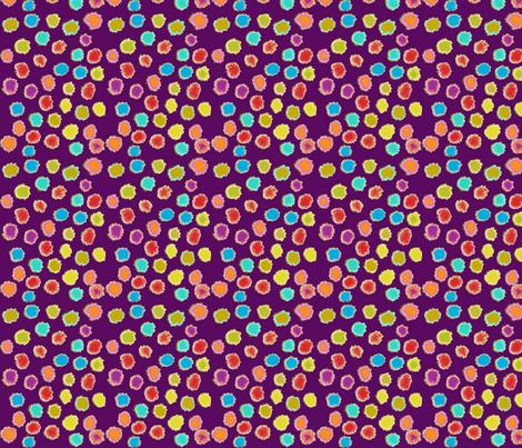 puff dot purple fabric by bbusbyarts on Spoonflower - custom fabric