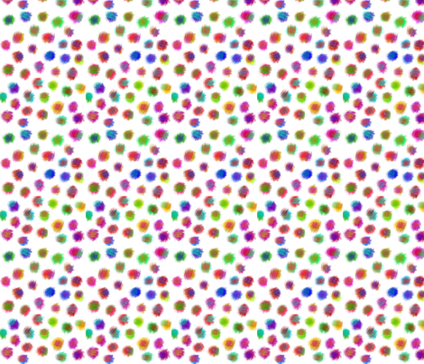 puff dots white 2 fabric by bbusbyarts on Spoonflower - custom fabric