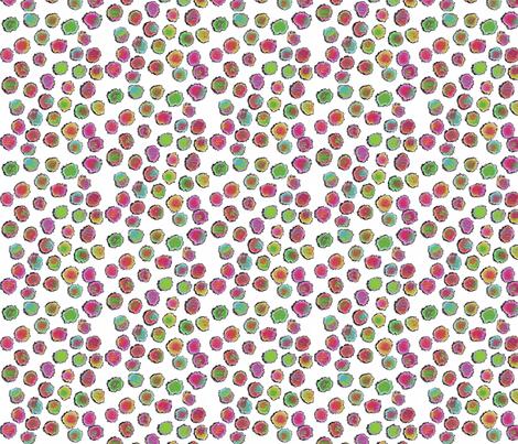 puff dots white fabric by bbusbyarts on Spoonflower - custom fabric