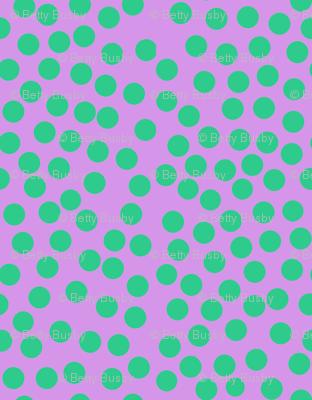 bubble dot green pink