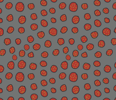 double dot red fabric by bbusbyarts on Spoonflower - custom fabric