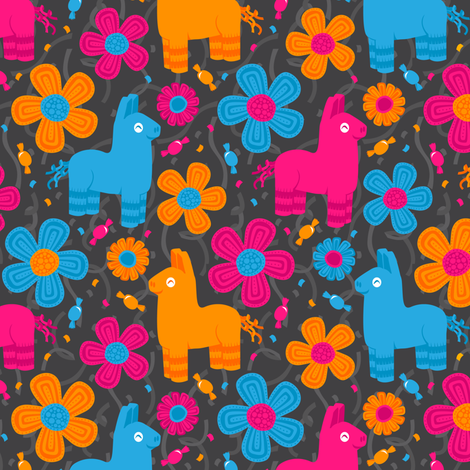 Pinata Parade fabric by robyriker on Spoonflower - custom fabric
