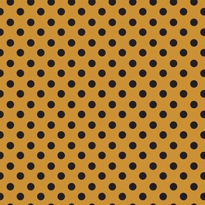 polkadot black and gold