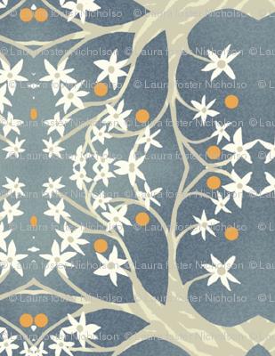 Trees in bloom