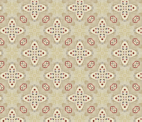 Funny face quatrefoil fabric by lfntextiles on Spoonflower - custom fabric