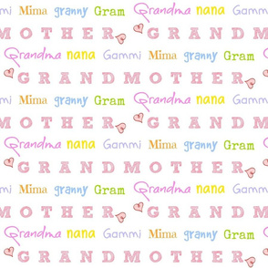 Grandmother LARGE 1731- candy crush hearts