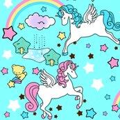 Rrspoonflower_blue_no_clouds_and_pega_unicorns_shop_thumb