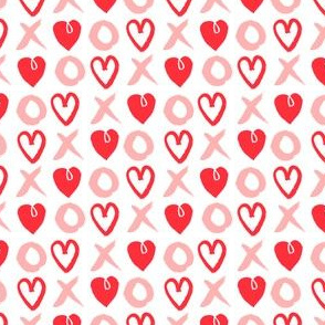 xoxo hearts // pink red valentines love girly print