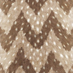 Luxe Deer Hide Chevron