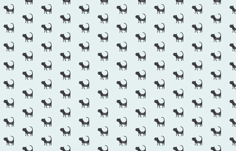 Black Cat fabric by amandabuechler on Spoonflower - custom fabric