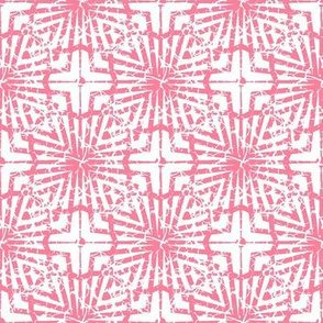 Crackled Pink and White Abstract