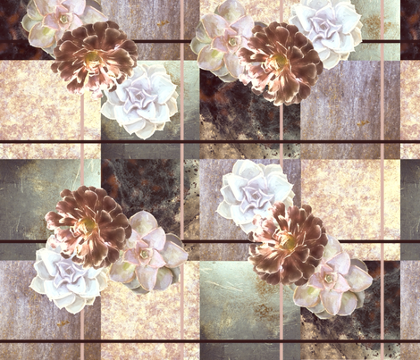 Succulents_1_Dusty__Pink fabric by lulutigs on Spoonflower - custom fabric