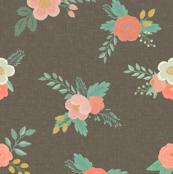 Sweet Bouquets in Warm Gray Linen