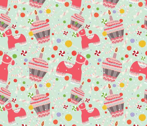 Pink Pinata fabric by cathleenbronsky on Spoonflower - custom fabric