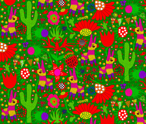 Pablo Pinata! fabric by orangefancy on Spoonflower - custom fabric