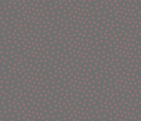 happy dots charcoal fabric by bbusbyarts on Spoonflower - custom fabric