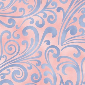 Marble Scroll Serenity/Rose Quartz Color of the Year