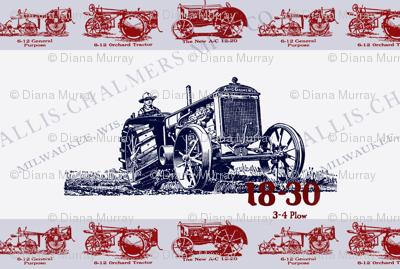 Allis-Chalmers Vintage Tractor Ad Teatowel