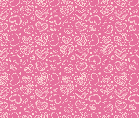 Valentines Day Hearts fabric by khaus on Spoonflower - custom fabric