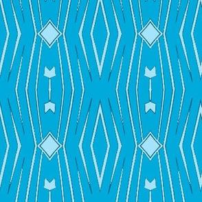 Wavy Diamonds in Blue